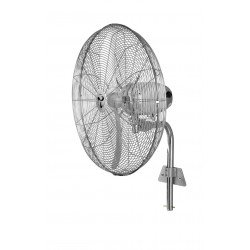 Оscillierenden Hochgeschwindigkeitsventilator, 70 Cm, 123 Watt, Chrom. Casafan, Windmaschine WM2 Wand Eco, 3 Jahre Garantie