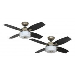 Hunter Central Park - Moderner Deckenventilator mit Licht 107 cm, silber matt mate Hunter Central Park