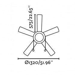 MANILA – moderner Deckenventilator, weiß, mit Licht, IR-Fernbedienung, 132 cm 33190 FARO