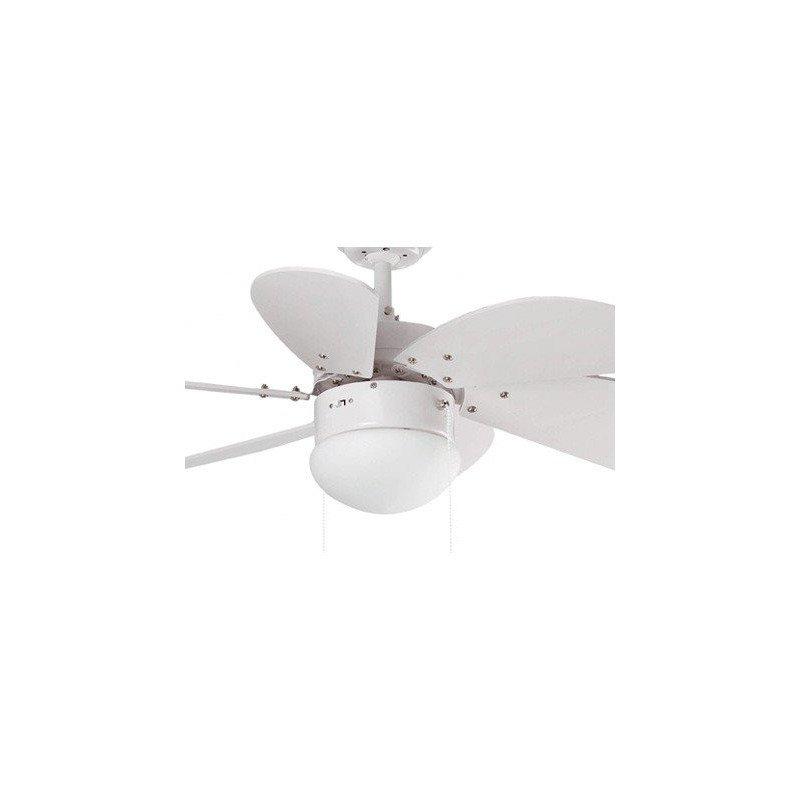 PALAO – moderner Deckenventilator, weiß, mit Licht, 81 cm