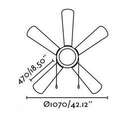 VENETO - Klassischer Deckenventilator, weiß, Licht, 107 cm, FARO 33318