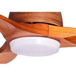 Designer Deckenventilator 132 Cm mit LED-Leuchte Massivholzflügel, Fernbedienung
