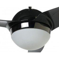 Moderner Deckenventilator schwarz und nickel 132 Cm leistungsstark Fernbedienung Beleuchtung