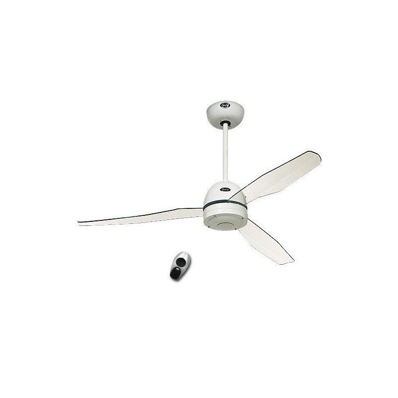 Libelle WE. Deckenventilator mit Fernbedienung, modern, 132 Cm, weiß, weiße Kunststoffflügel