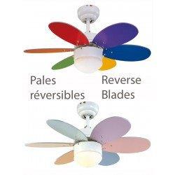 Deckenventilator 76 cm mit integriertem Licht und Wendeflügel