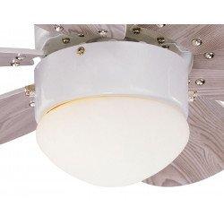 Deckenventilator graur 76 cm mit integriertem Licht und Wendeflügel
