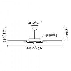 Yakarta - moderner Deckenvinetilator für mittlere Räume von 10 bis 20 m²
