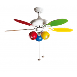 Colore de Purline Von KlassFan ein Deckenventilator mit reversibler Funktion und Licht