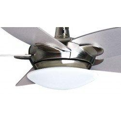 Purline von Klassfan, Farou Deckenventilator Design Flügel silber / weiß 132 cm, mit LED und Fernbedienung