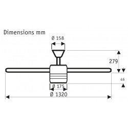 Hunter Flight BN- Designer Deckenventilator, leise, modern 132 cm