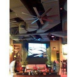 Deckenventilator 160 Cm Faitation LEVON Modernes Design, 8 Flügel, Walnuss, Garantie 25 Jahre
