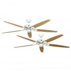 Deckenventilator, ROYAL, 180 cm, Lack weiß, Flügel Ahorn /Buche