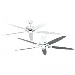 Deckenventilator, ROYAL, 180 cm, Lack weiß, Flügel Lack weiß/Licht grau