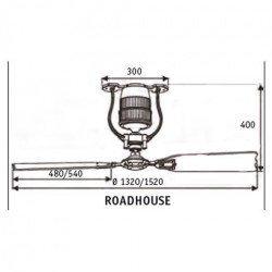 ROADHOUSE – Vintage Still DC Deckenventilator, 132 Cm., Shabby White, Flügel Shabby White