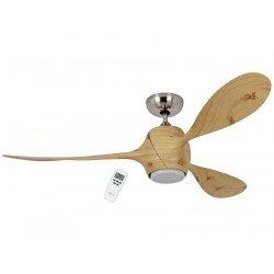 Eco Fiore 142 Cm Design Deckenventilator, Flügel und Gehäuse Redpine, LED-Licht