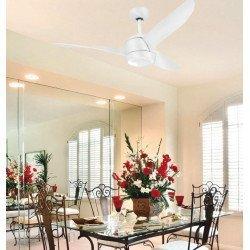 Deckenventilator DC Design 142 cm gebürstet Stahl weiß, LED Licht, Fernbedienung, Koala LBA HOME