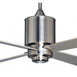Deckenventilator 132 cm gebürstet Chrom, Fernbedienung und LED-Scheinwerfer