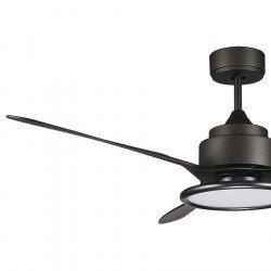 DC Deckenventilator, 137 cm, Vor und Rückwärtslauf, Fernbedienung, LED-Lampe, Schwarz, Pometeo