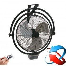 Hochleistungs-Wandventilator, oszillierend, 50 Cm, 120 Watt, verchromt.