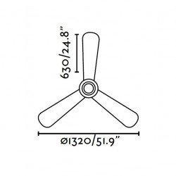NIAS - Deckenventilator, DC, modern, 132 cm. Nickel matt Faro 33472