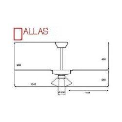 Deckenventilator 91 cm, ideal für 9-13m², Vorwärts- und Rückwärtslauffunktion