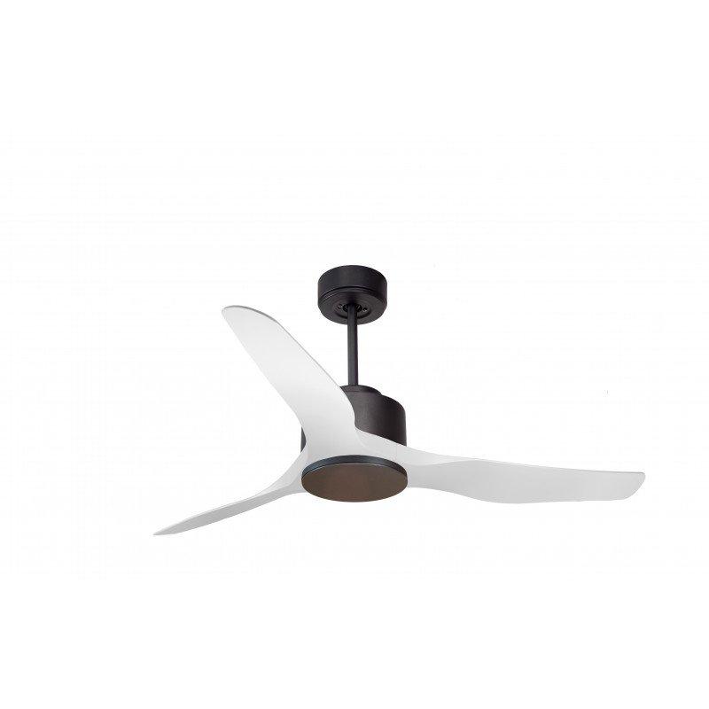 Modulo KlassFan, DC Deckenventilator ohne Lichtgrau und Weiß, ideal für 25 bis 40 m² hocheffiziente KL_DC1_L4Wi