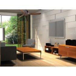 KlassFan Modulo - Deckenventilator DC Deckenleuchte Grau Basalt und Holz ideal für 25 bis 40 qm KL_DC1_P4
