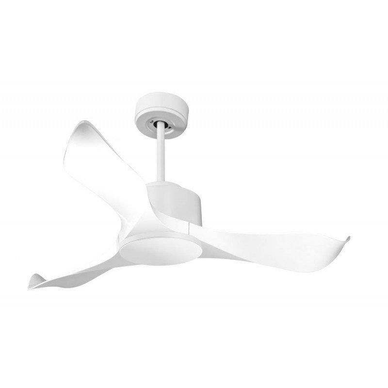 Modulo von KlassFan - Deckenventilator, Weiß, DC ohne Licht ideal für 20 bis 30 m² KL_DC4_P1Wi
