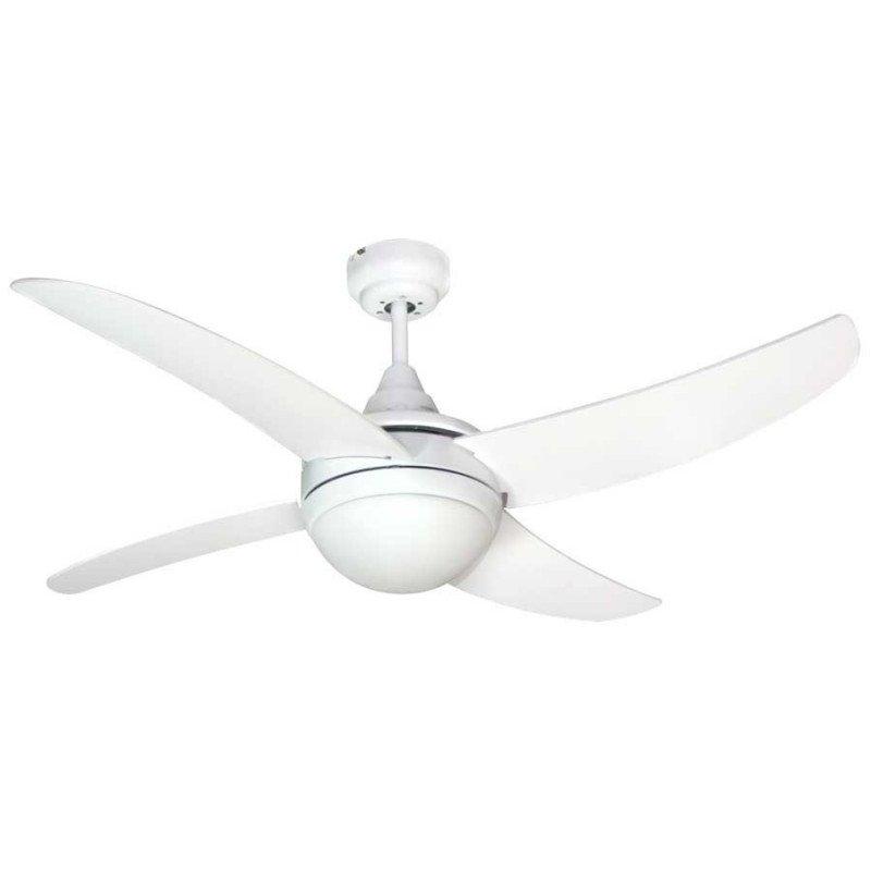 Artus Deckenventilator 112 cm weiß, weiße Flügel, mit Lichtkit und Fernbedienung