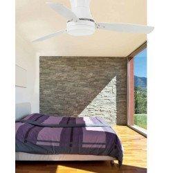 Moderne Deckenventilator 107 cm Silber und Ahorn / Silber Flügel, Licht, Fernbedienung TONSOY von LBA Home
