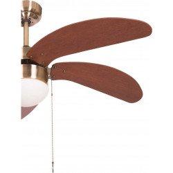 Deckenventilator 107 cm mit integrierter Lampe und Wendeflügel Kirsche/Nussbaum LIBE Kirsche
