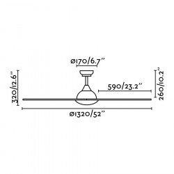 Deckenventilator 132 cm weiß IP44 Sioux 33770