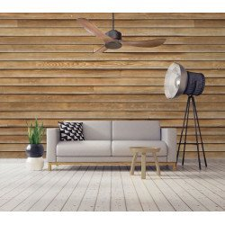 Modulo by KlassFan - Super Wärmerückführung TDA Deckenventilator Grau Basalt und Holz für 25 bis 40 qm KL_DC1_P3Wo