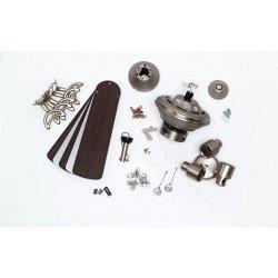 KINGSTON - Deckenventilator 105 cm. Beleuchtung, Wendeflügel, gealterte Eiche / Silber