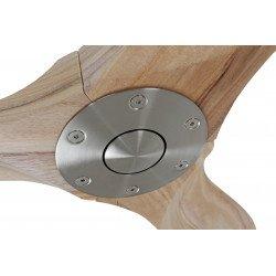 Designer Deckenventilator 122 cm mit Flügeln aus keilgezinktem Massivholz, natur Casafan Genuino 122 cm