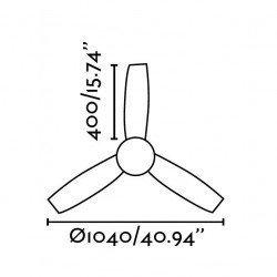 FARO MINI UFO - Deckenventilator, modern, Licht, 100 cm, IR-Fernbedienung,