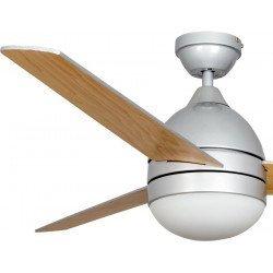 Deckenventilator 112 cm, mit Beleuchtung und Fernbedienung, grau