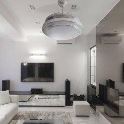 Shadow Classic von LBA HOME, ein effizienter Deckenventilator mit einziehbaren Flügeln und einer leistungsstarken LED