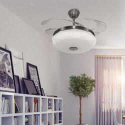 Shadow Diamant Sound von LBA HOME, ein effizienter Deckenventilator mit einziehbaren Flügeln und einer leistungsstarken LED