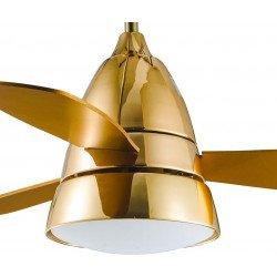 Moderner Deckenventilator 107 cm Gold, goldene Flügel und Fernbedienung - Golden Tulip