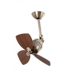Deckenventilator, Aluminium, Messing Antik, 46 cm - Pepeo Toledo AM