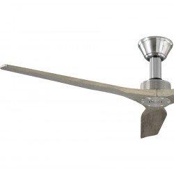 Softy von KlassFan. DC Hyper Silence Deckenventilator ohne Licht mit Fernbedienung, 152 cm für Große Flächen, Massivholz Flügel