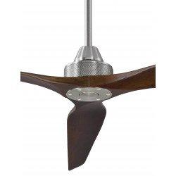 Soft von KlassFan. DC Hyper Silence Deckenventilator ohne Licht mit Fernbedienung. 178 cm, 60 cm Deckenstange, Massivholz Flügel