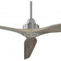 Soft von KlassFan. DC Hyper Silence Deckenventilator, 178 cm, 60 cm Deckenstange, klare Massivholz Flügel, Modern, Chrom und Hol