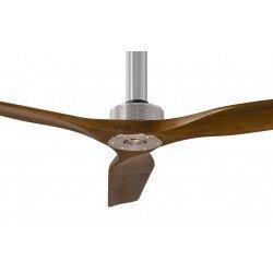 Softy von KlassFan. DC Hyper Silence Deckenventilator ohne Licht mit Fernbedienung, helles Leimholz, 152 cm , 60 cm Deckenstange
